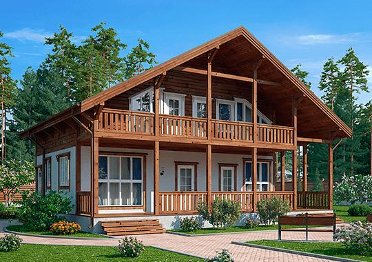 Каркасные дома серии Шале
