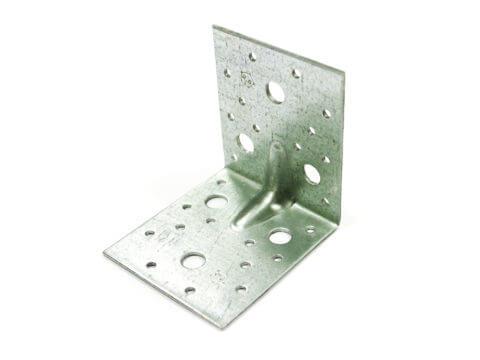 Пластина угловая оцинкованная, 90x90x65x2,5 мм